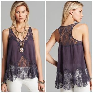 Free People Bell and Lace Trapeze Camisole top